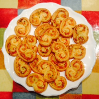 Smoked salmon and gruyere palmiers