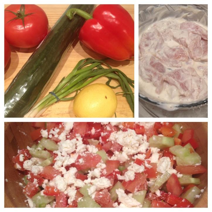 Mediterranean chicken and salsa