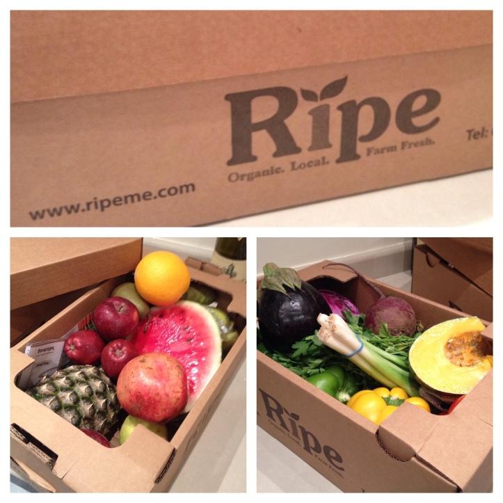 Ripe fruit and veg box