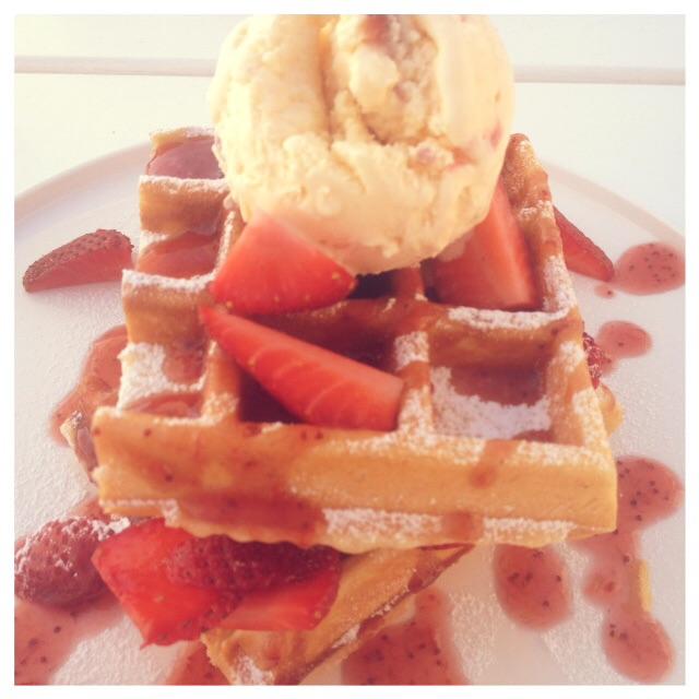 Strawberries Madness Waffle